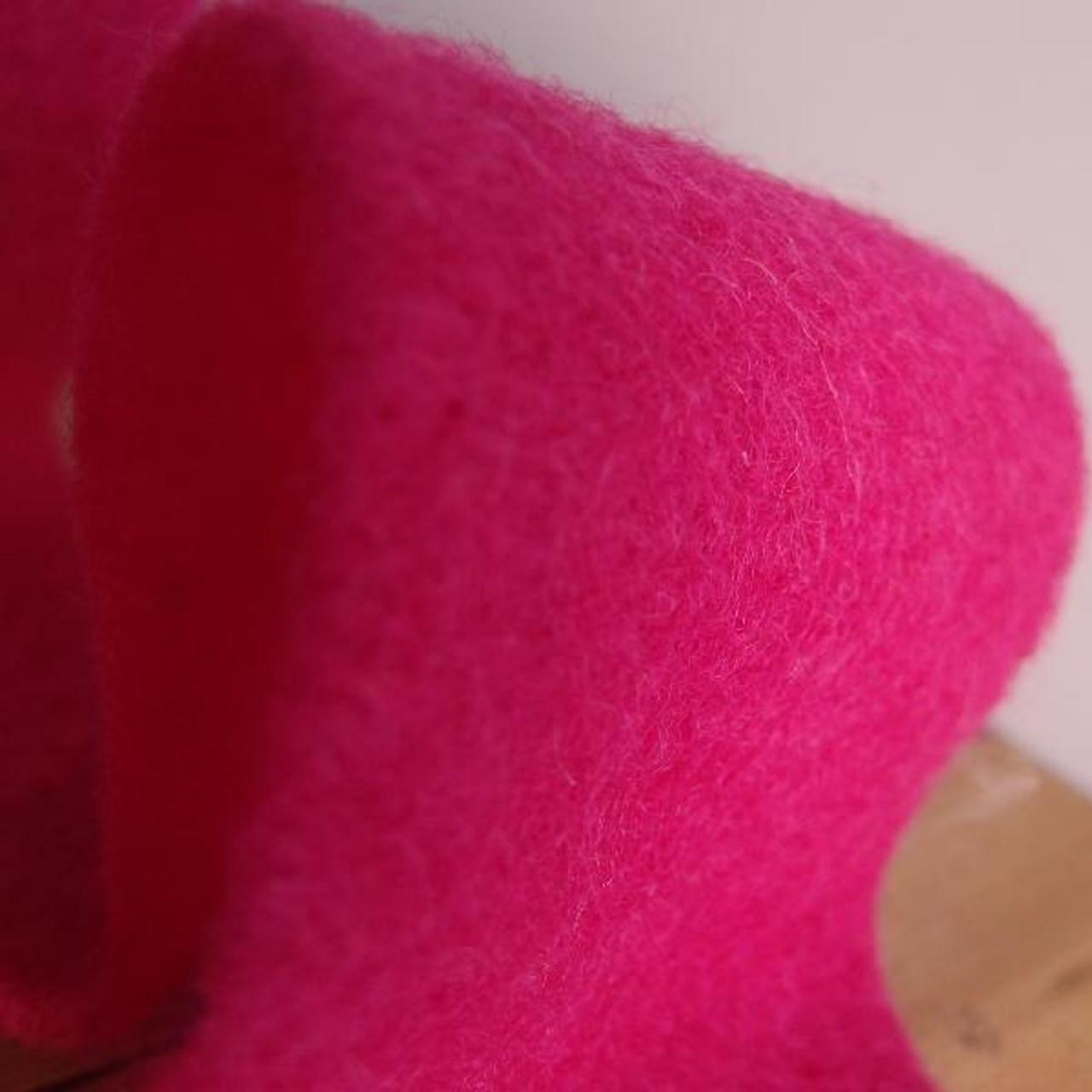 Fuchsia Pure Wool Felt Ribbon (2 sizes)