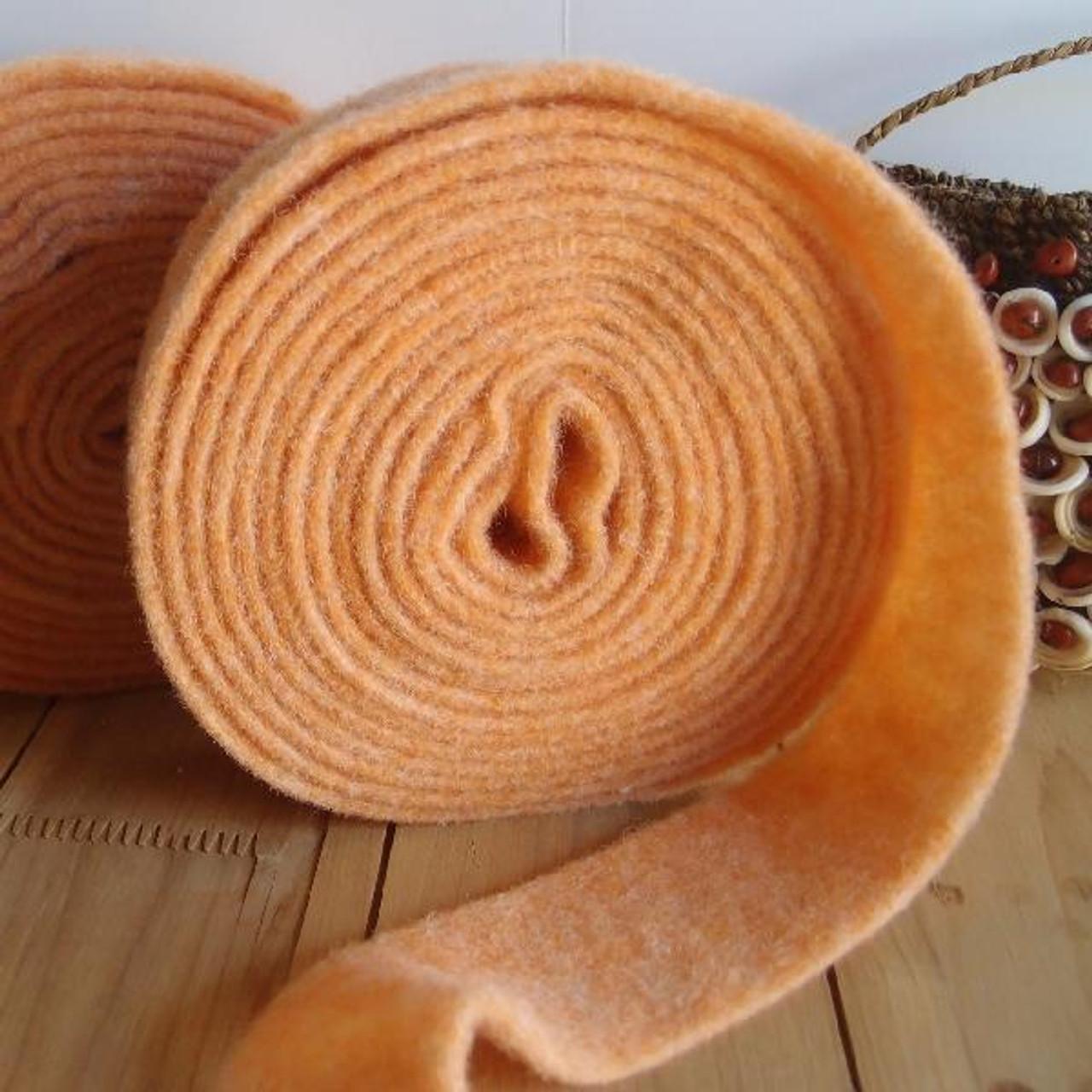 Coral Pure Wool Felt Ribbon (2 sizes)
