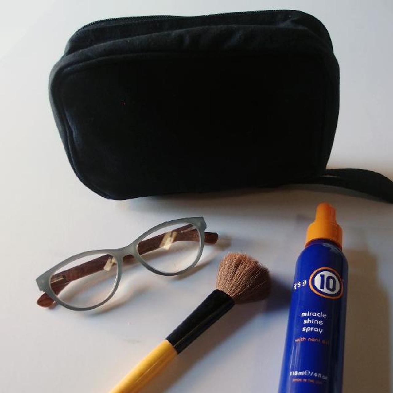 Black Recycled Canvas Travel Kit Bag Dopp Kit