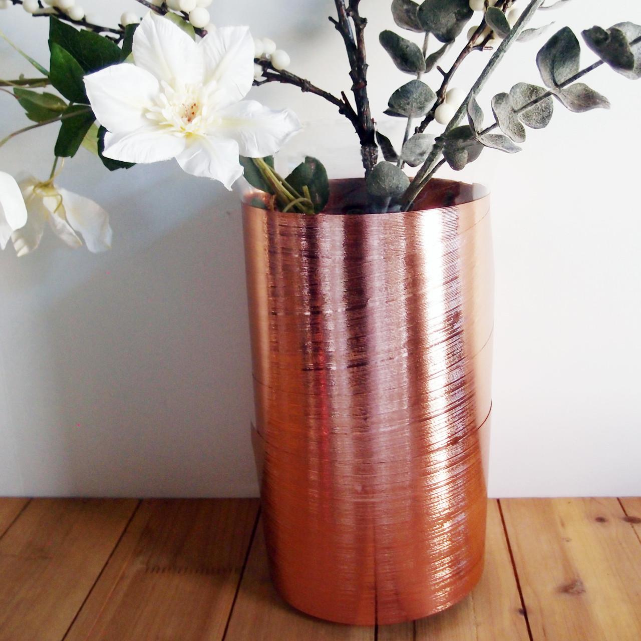 Rose Gold Metallic Aspidistra Leaf Ribbon