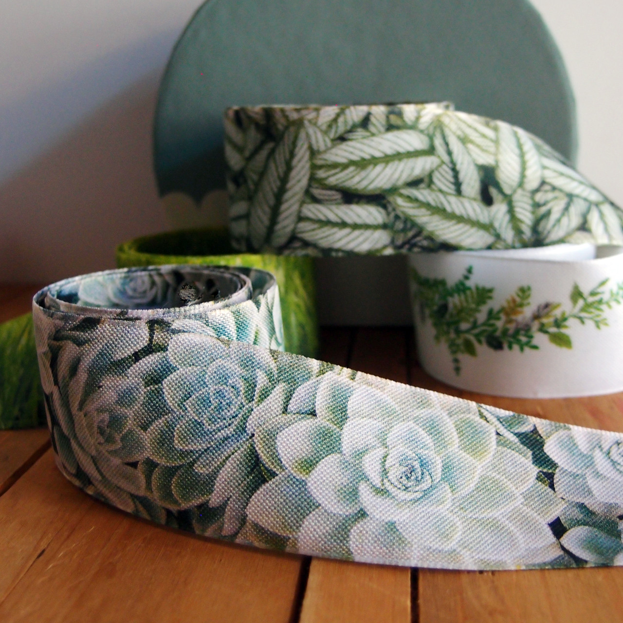 Succulent Ribbon for Floral Designs, Gift Packaging, and other Decorative Projects | Packaging Decor