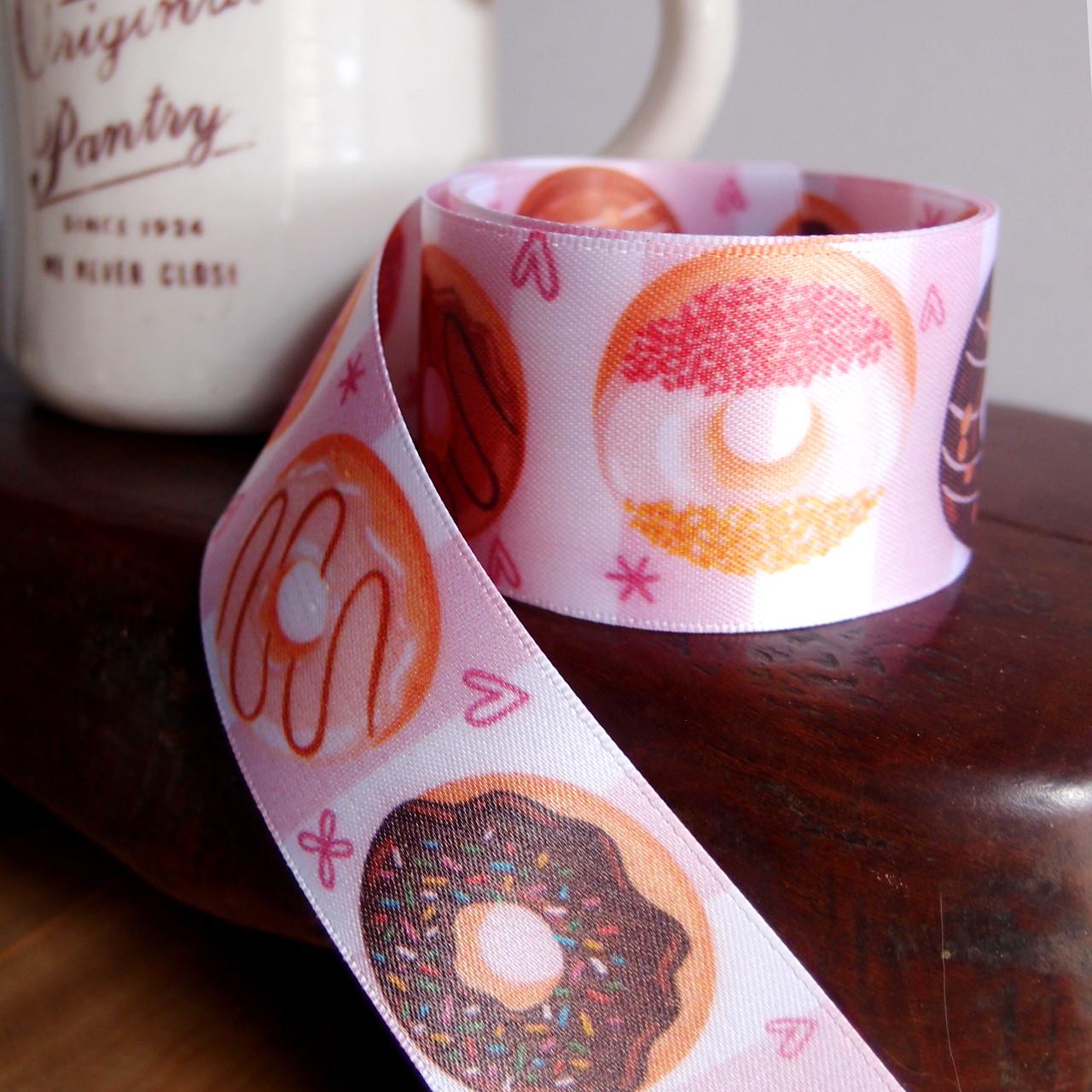 """1 1/2"""" Donuts Printed  Ribbon"""