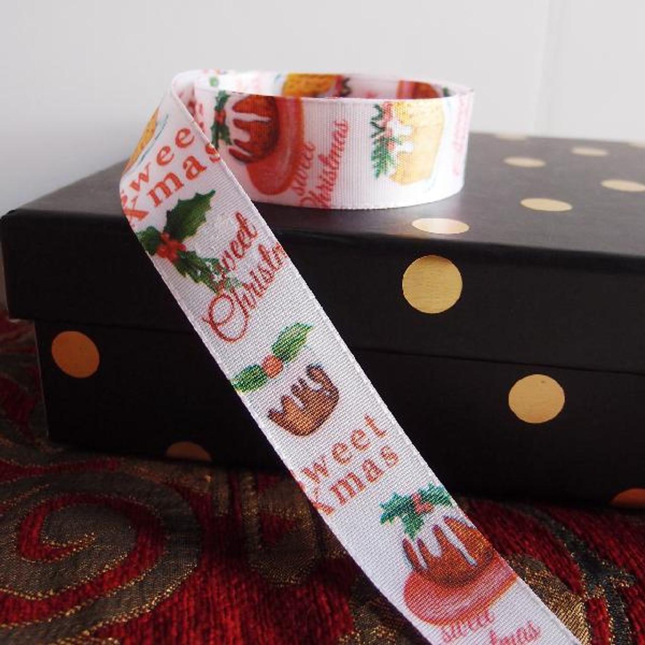 "1 "" Christmas Dessert Ribbon"