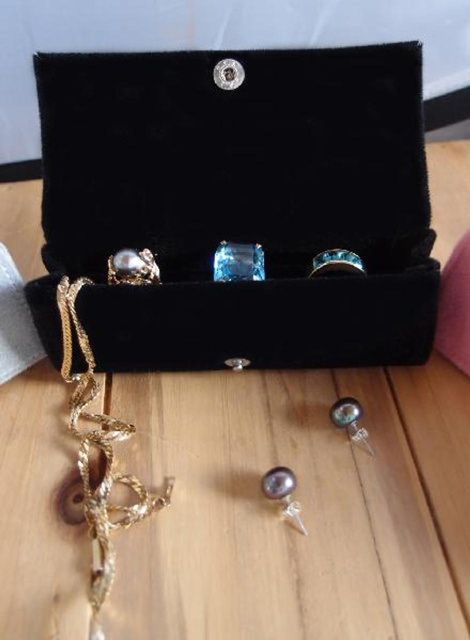 Black Velvet Jewelry Holder-Large