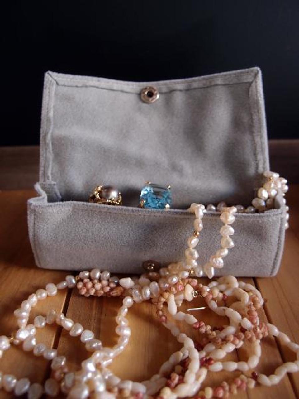 Silver Velvet Jewelry Holder-Large