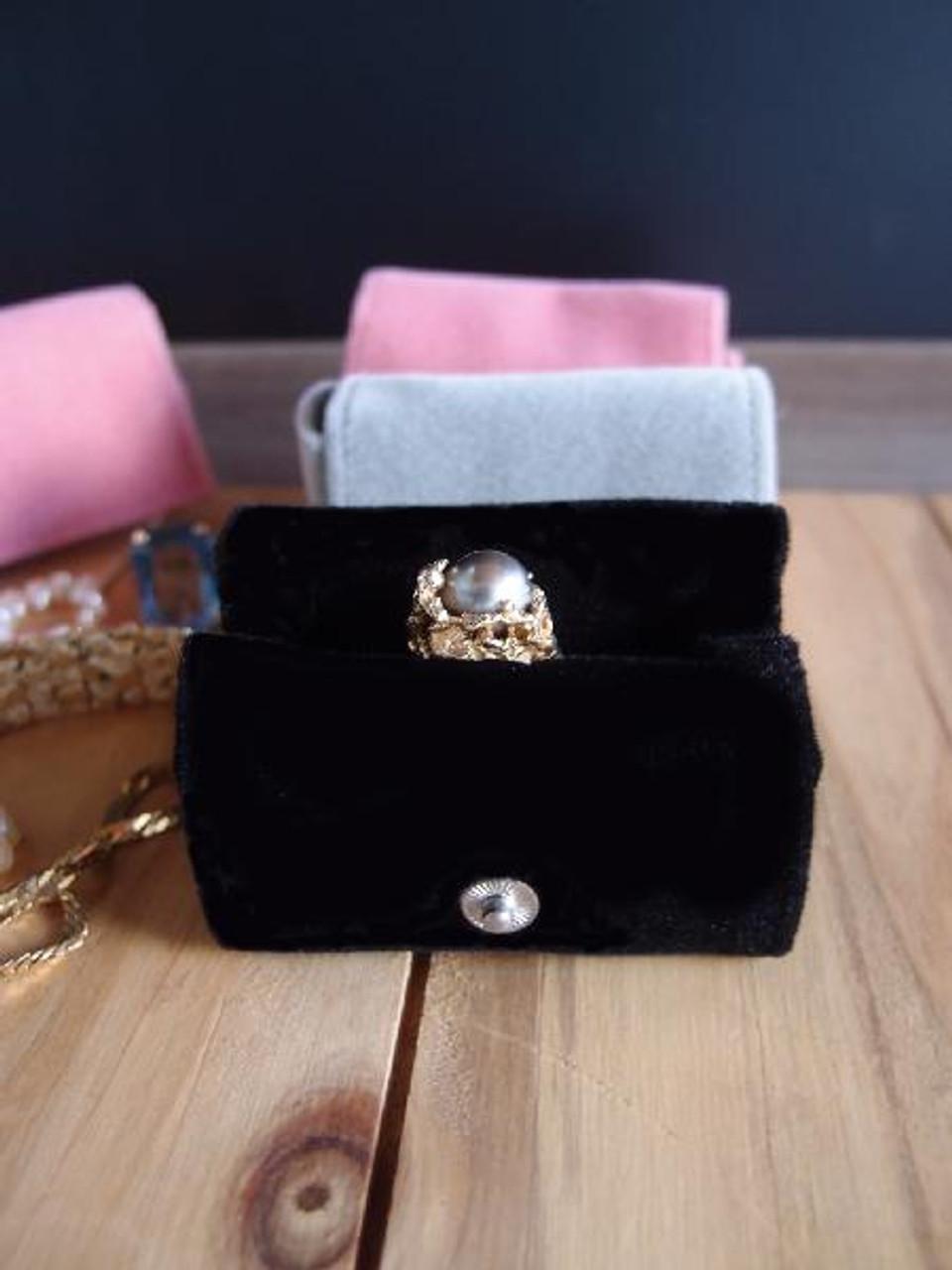 Black Velvet Jewelry Holder-Medium