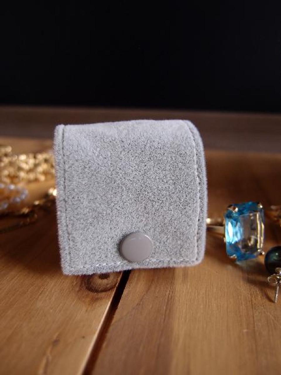 Silver Velvet Jewelry Holder-Small
