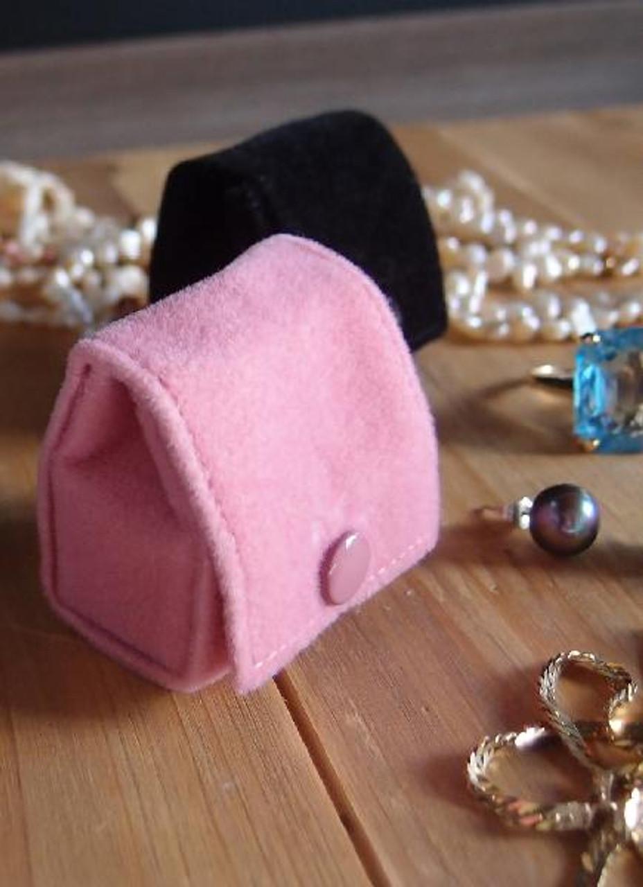 Mauve Pink Velvet Jewelry Holder-Small