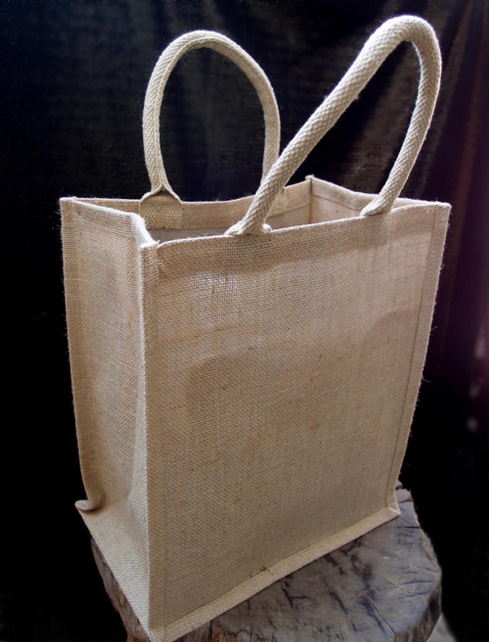 Jute Wine Tote Bag 6-Bottle