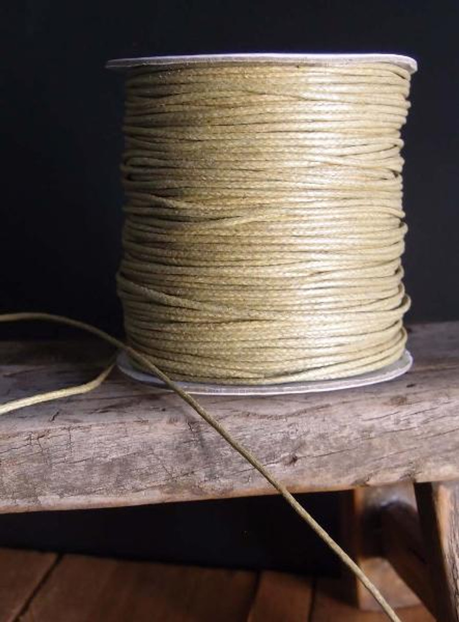 Tan Waxed Cotton Cord