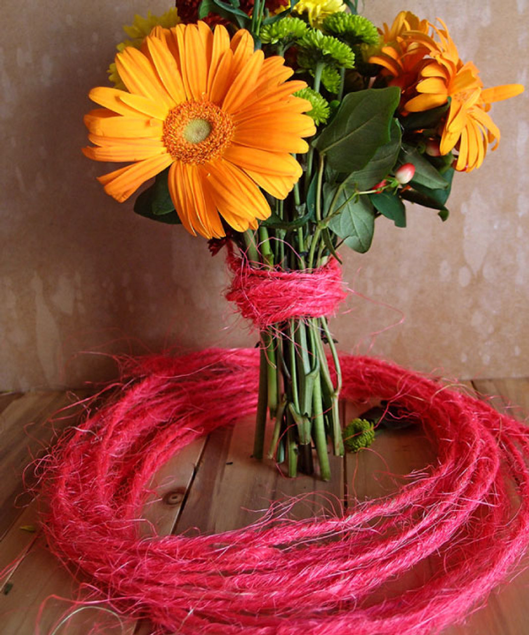Hot Pink Sisal Wire Rope