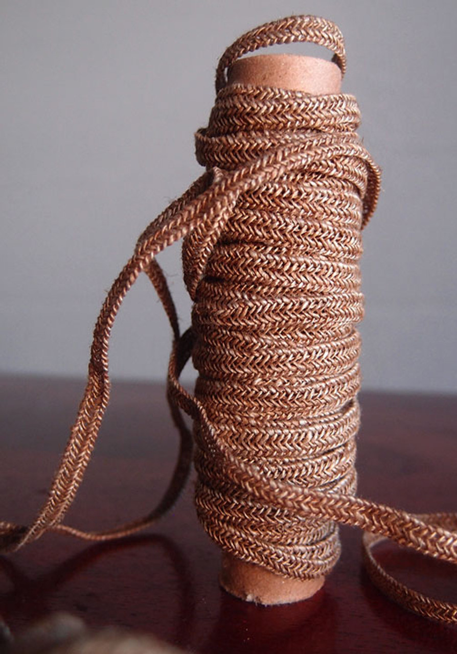 Brown Faux Linen Braided Cord