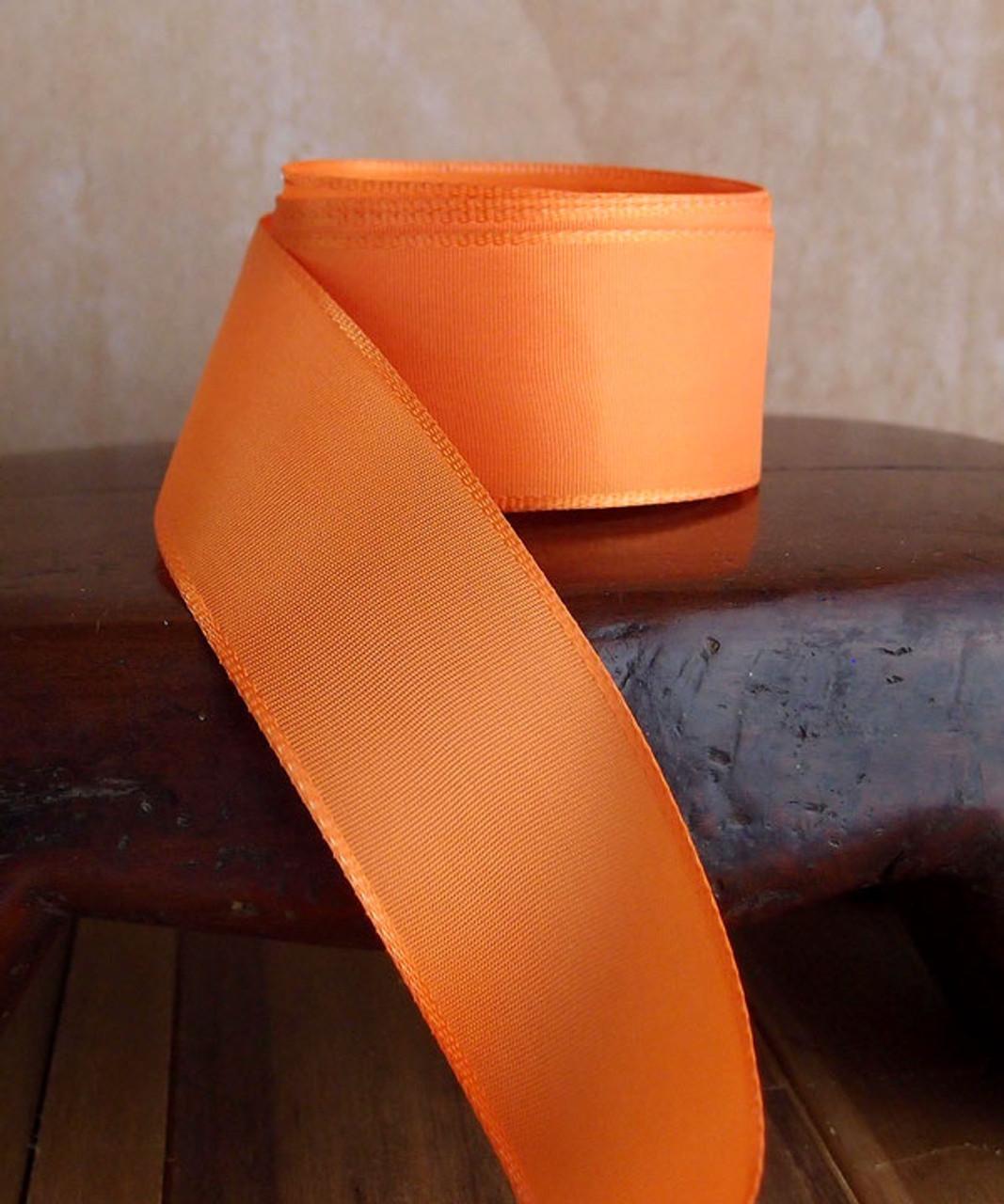 Orange Florist's Choice Ribbon with Wire Edge (2 sizes)