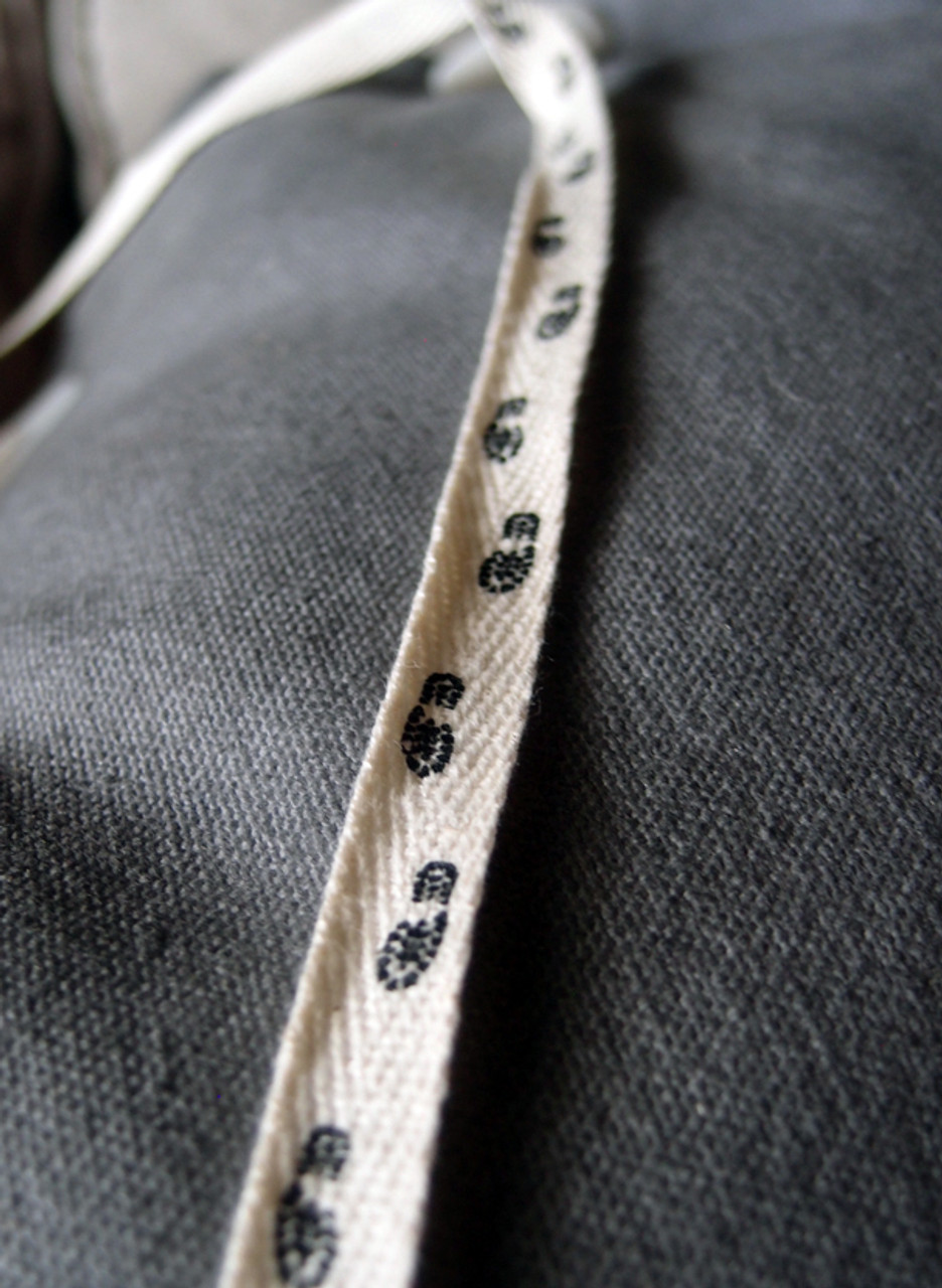 Foot Printed Cotton Ribbon