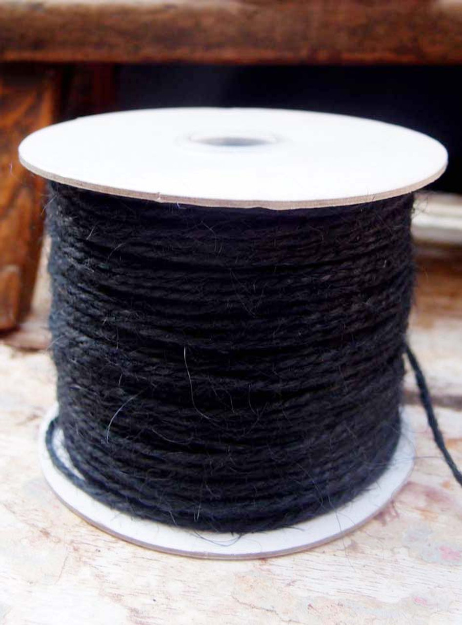 Black Burlap Jute Cord 1.5mm