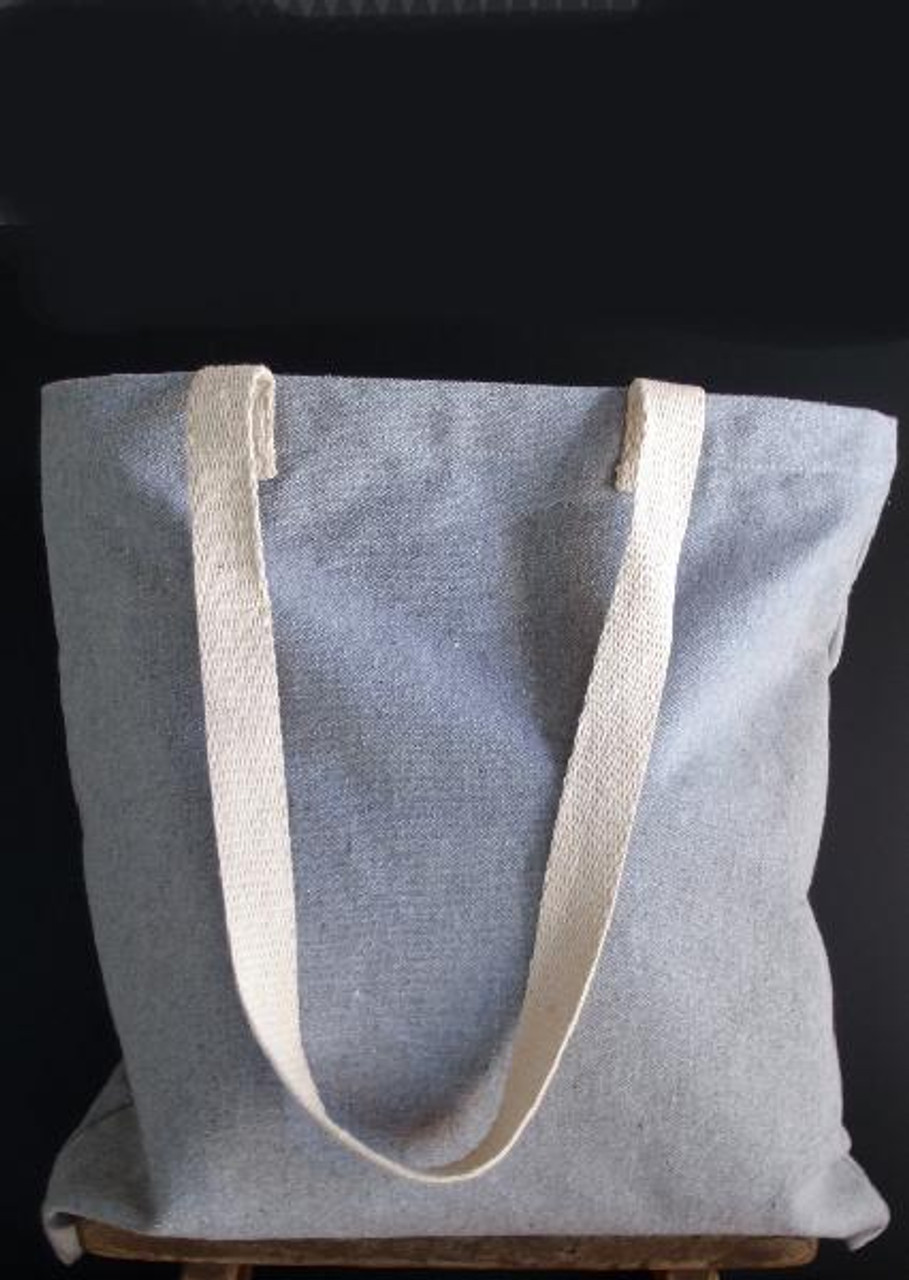 Grey Recycled Canvas Tote Bag 15 x 15 inches B869-70, Wholesale Cotton Tote Bags | Packaging Decor