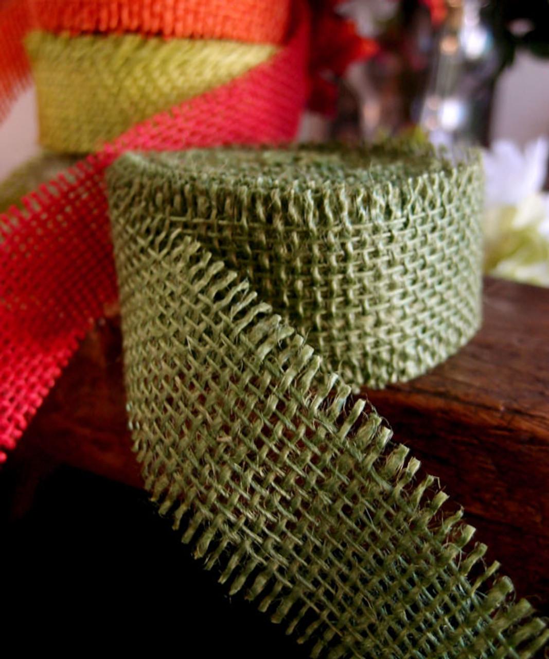 Moss Green Burlap Ribbon, Wholesale Burlap Ribbon, Wholesale Ribbon Supplier | Packaging Decor