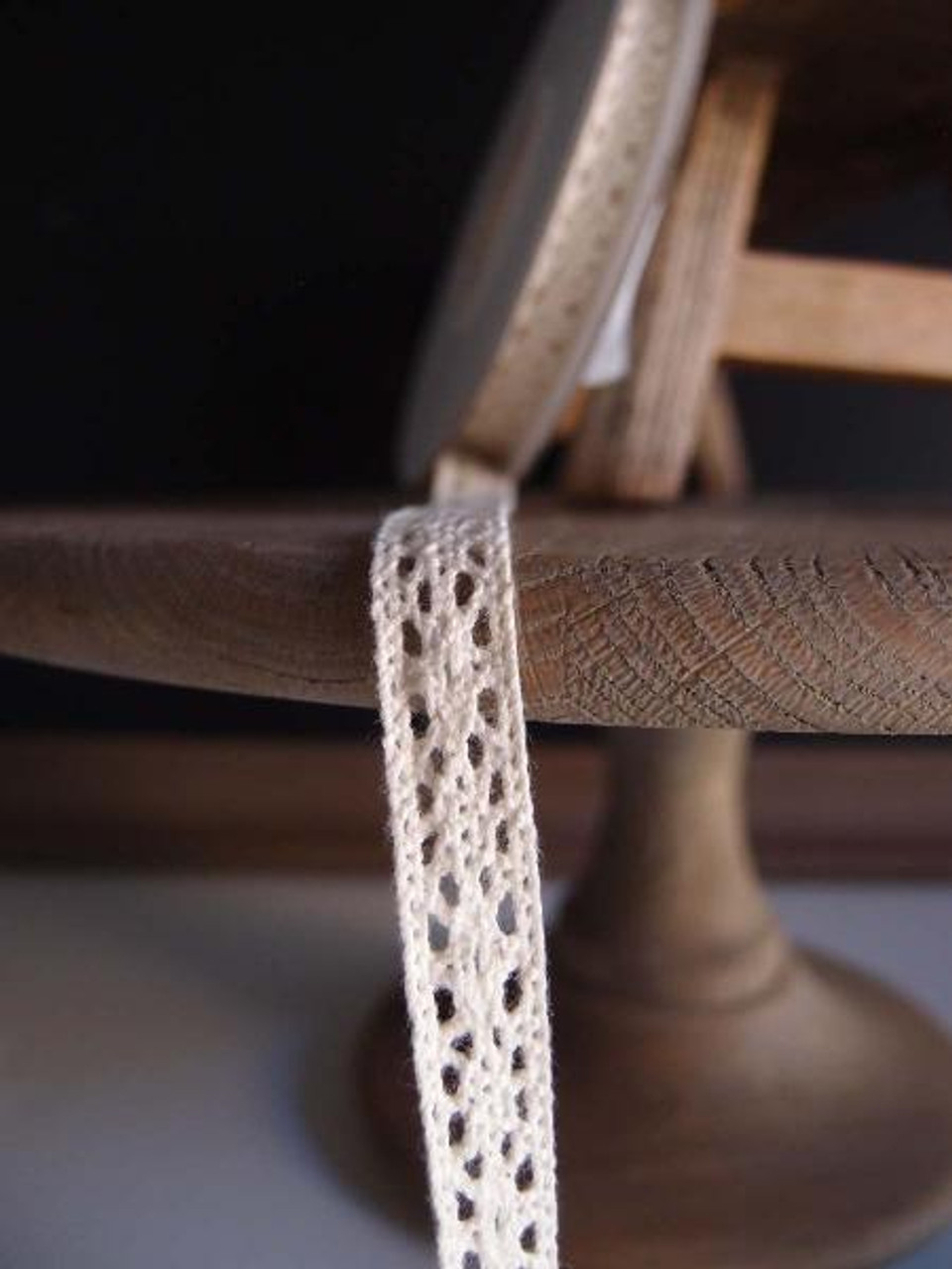 "1/2"" Cotton Crochet Lace Ribbon - Ivory"