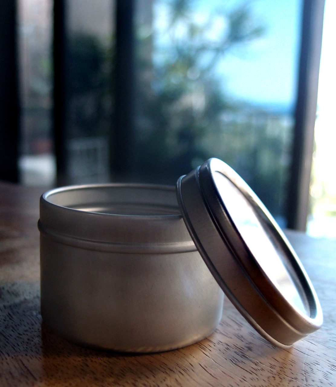 Tin Can with Clear Lid (7 sizes)