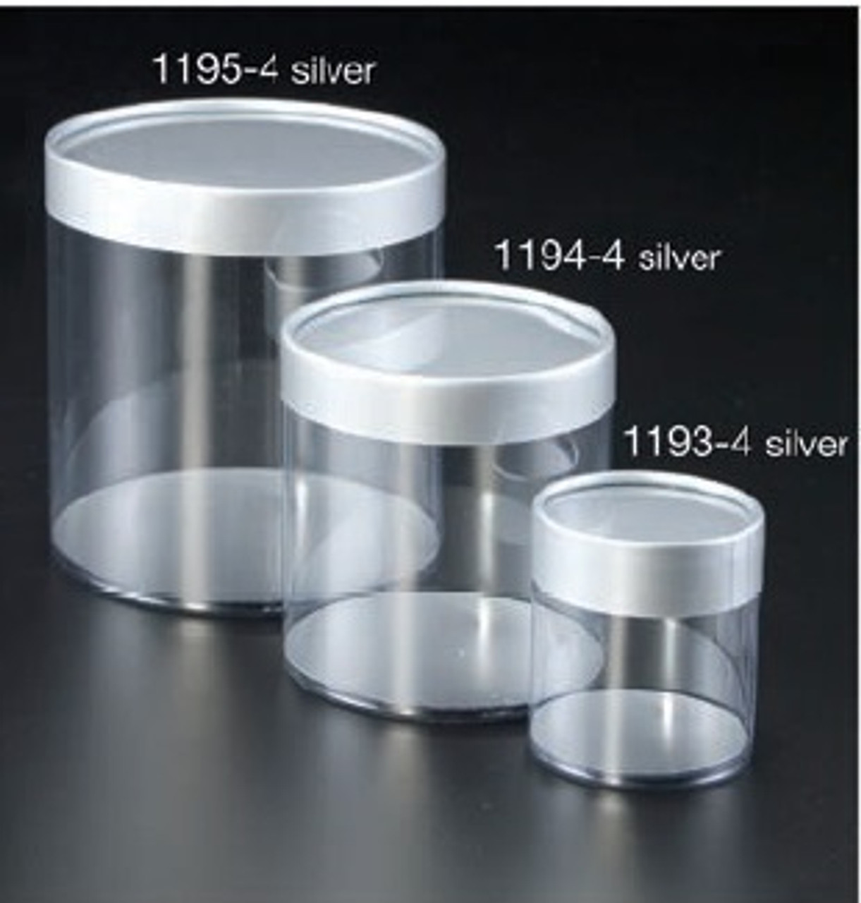 Preassembled Cylinder Boxes - Silver (3 sizes)