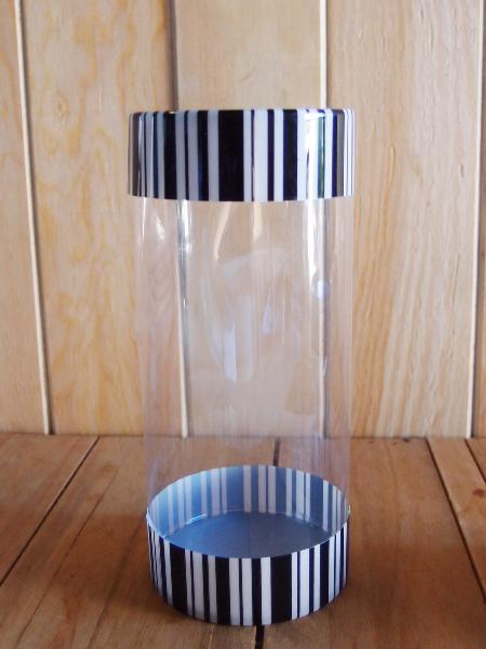 Clear Cylinder with Black/White Lid (3 sizes)