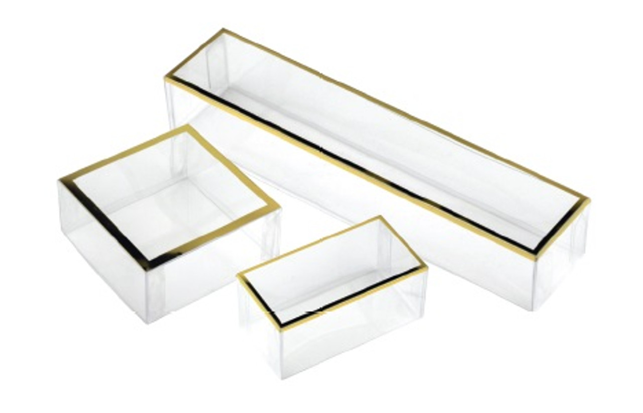 PET Box with Gold Trim (3 sizes)
