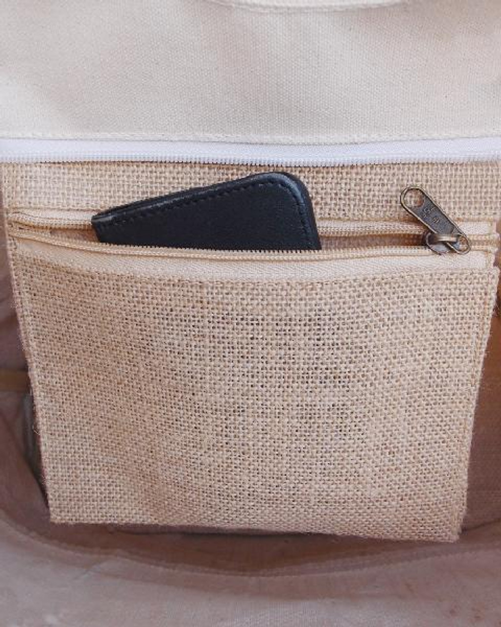 Farmhouse Tri-Material Tote Bag with Leather Handles
