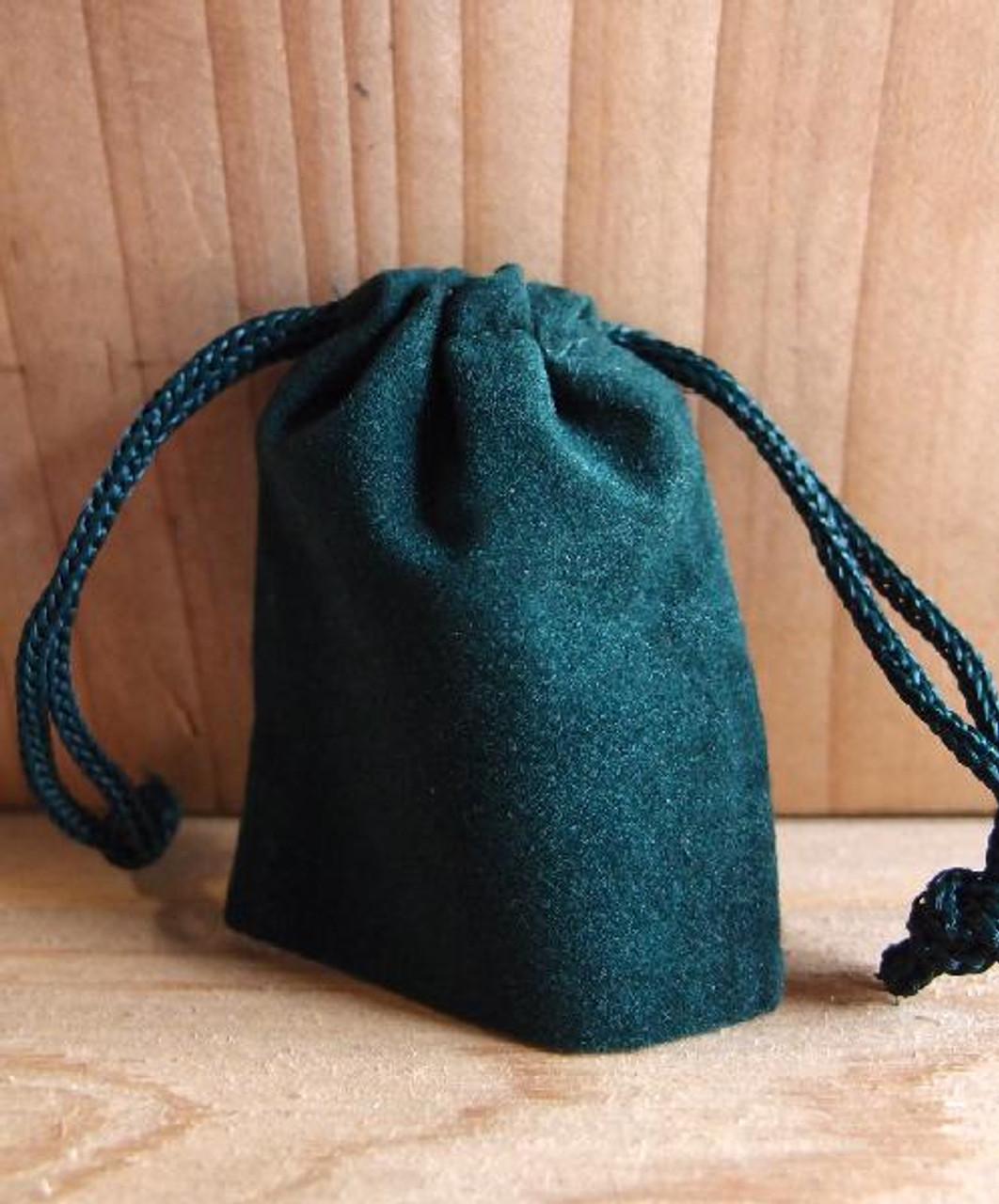 Hunter Green Velvet Bags  (4 sizes)