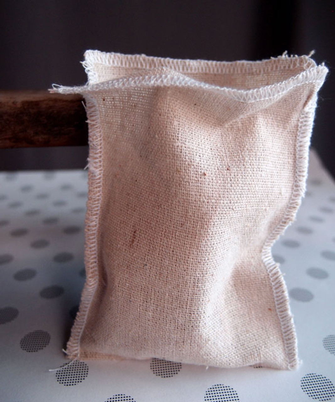 Linen Pouch with White Serged Edge (3 sizes)