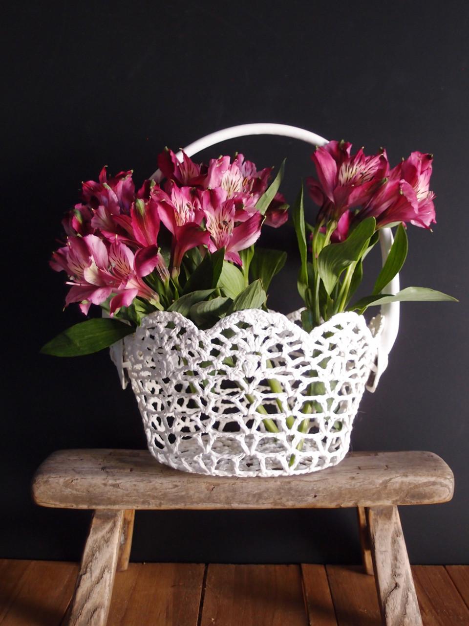 Stiffened Lace Basket, Wholesale Floral Lace Baskets, Wholesale Gift Packaging | Packaging Decor