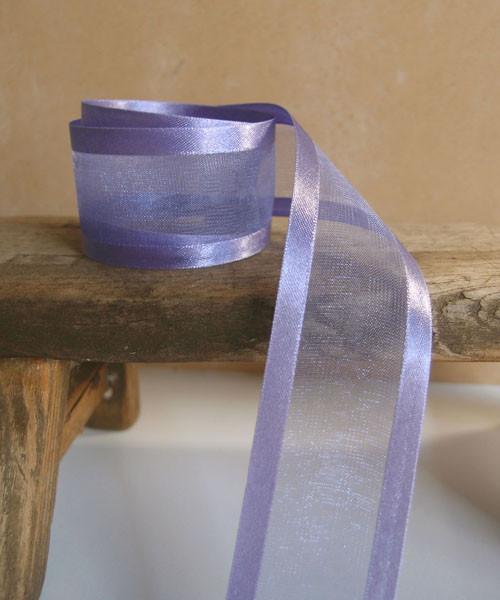 Delphinium Sheer Ribbon with Satin Edge (4 sizes)