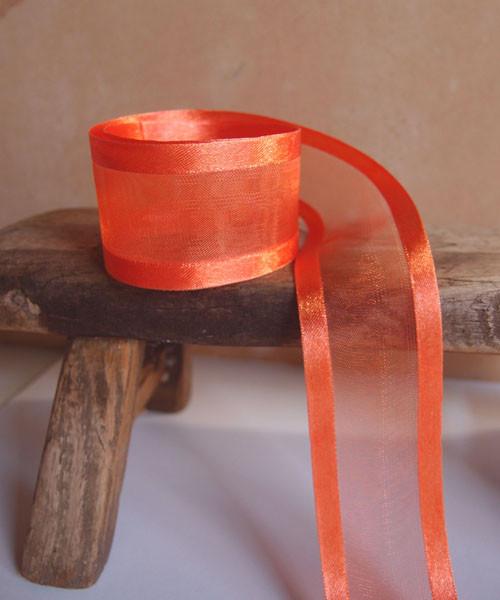 Autumn Sheer Ribbon with Satin Edge (2 sizes)