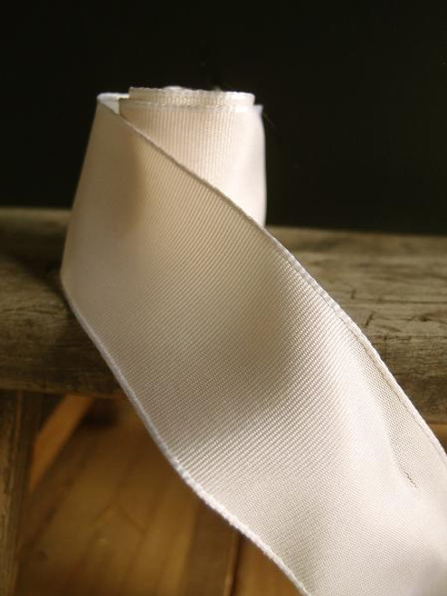 Ivory Two-Toned Grosgrain Ribbon with Wired Edge (2 sizes)