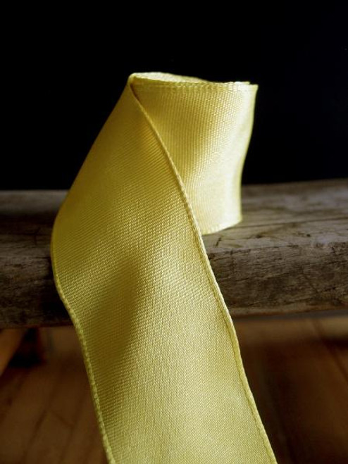 Yellow Two-Toned Grosgrain Ribbon with Wired Edge (2 sizes)