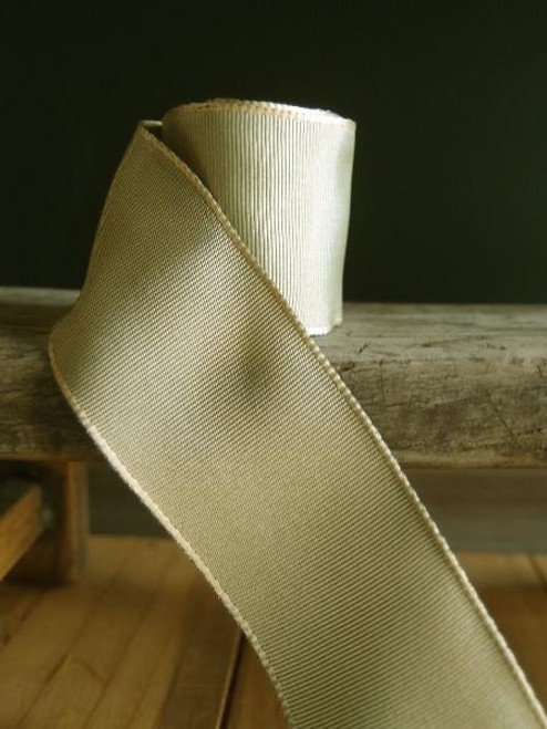 Moss Two-Toned Grosgrain Ribbon with Wired Edge (2 sizes)