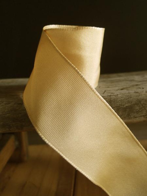 Champagne Two-Toned Grosgrain Ribbon with Wired Edge (2 sizes)