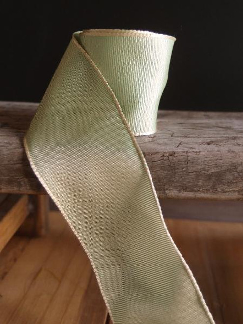 Kiwi Two-Toned Grosgrain Ribbon with Wired Edge (2 sizes)