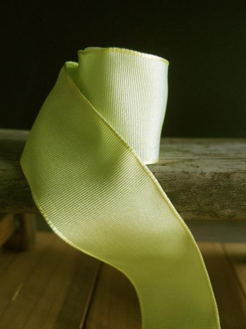 Chartreuse Two-Toned Grosgrain Ribbon with Wired Edge ( 1 size)