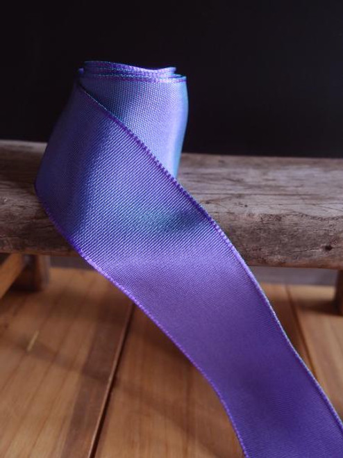 Delphinium Two-Toned Grosgrain Ribbon with Wired Edge (2 sizes)