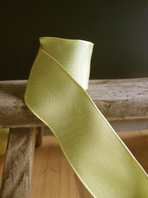 Pear Two-Toned Grosgrain Ribbon with Wired Edge (2 sizes)