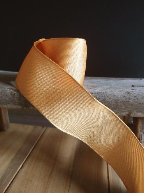 Gold Two-Toned Grosgrain Ribbon with Wired Edge (2 sizes)