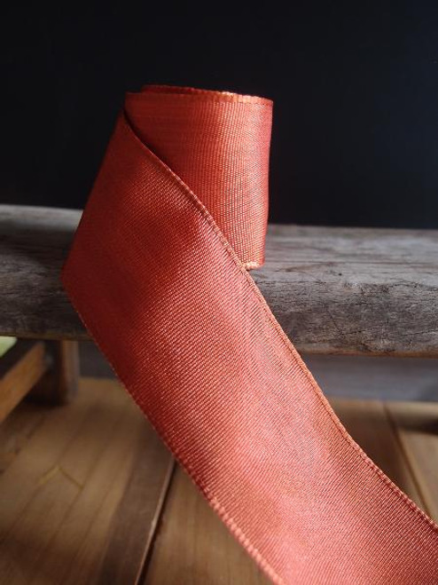 Copper Two-Toned Grosgrain Ribbon with Wired Edge ( 1 size)