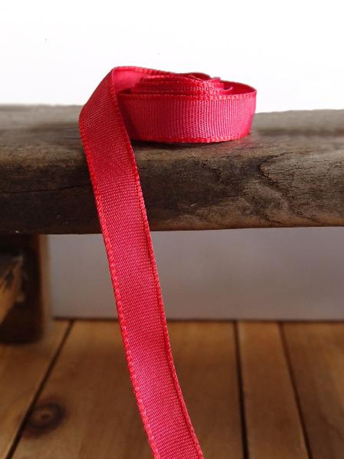 Reddish Hot Pink Two-Toned Grosgrain Ribbon (2 sizes)