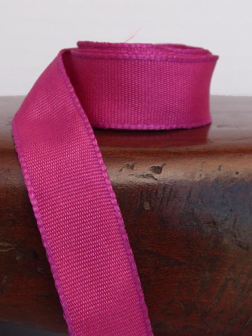 Hot Pink Two-Toned Grosgrain Ribbon (2 sizes)