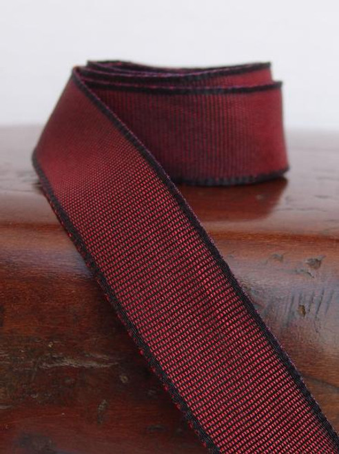 Burgundy Two-Toned Grosgrain Ribbon (2 sizes)