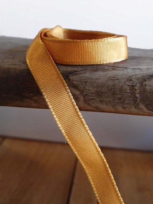 Gold Two-Toned Grosgrain Ribbon (2 sizes)