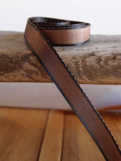 Brown Two-Toned Grosgrain Ribbon (2 sizes)