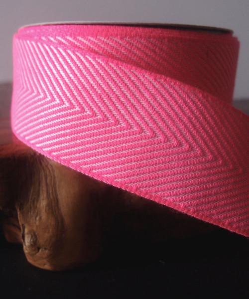 Hot Pink Chevron Herringbone Ribbon