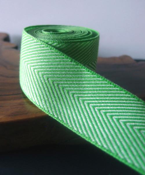 Green Chevron Herringbone Ribbon