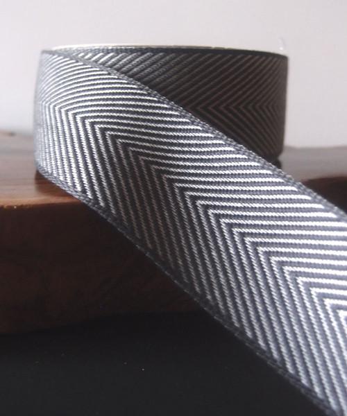 Gray Chevron Herringbone Ribbon